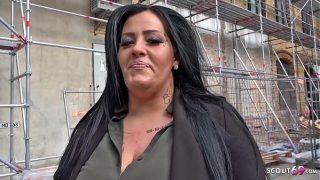Ashley Cumstar Strassen Casting und Anal gefickt in ihr enges Arschloch